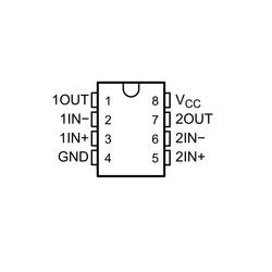 LM393P Komparatör Entegresi PDIP-8 - Thumbnail