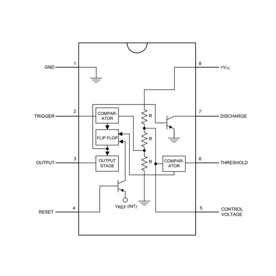 LM555 SOIC-8 SMD Zamanlayıcı - Osilatör - Pulse Jeneratör Entegresi