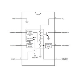 LM555 SOIC-8 SMD Zamanlayıcı - Osilatör - Pulse Jeneratör Entegresi - Thumbnail