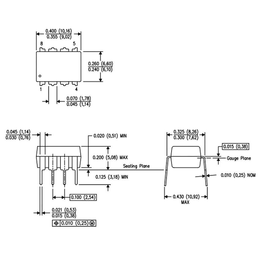 LM555 Zamanlayıcı Entegresi Dip8