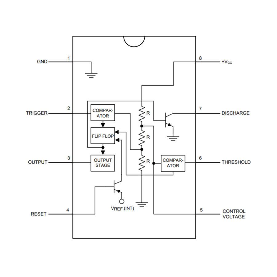 LM555 Zamanlayıcı - Osilatör - Pulse Jeneratör Entegresi DIP-8