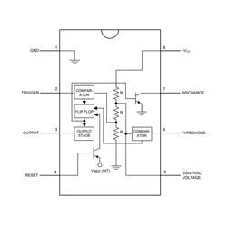 LM555 Zamanlayıcı - Osilatör - Pulse Jeneratör Entegresi DIP-8 - Thumbnail