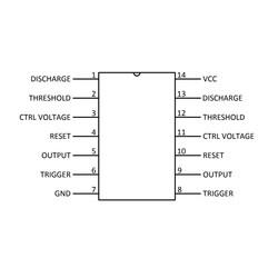 LM556 DIP-14 Zamanlayıcı - Osilatör - Pulse Jeneratör Entegresi - Thumbnail