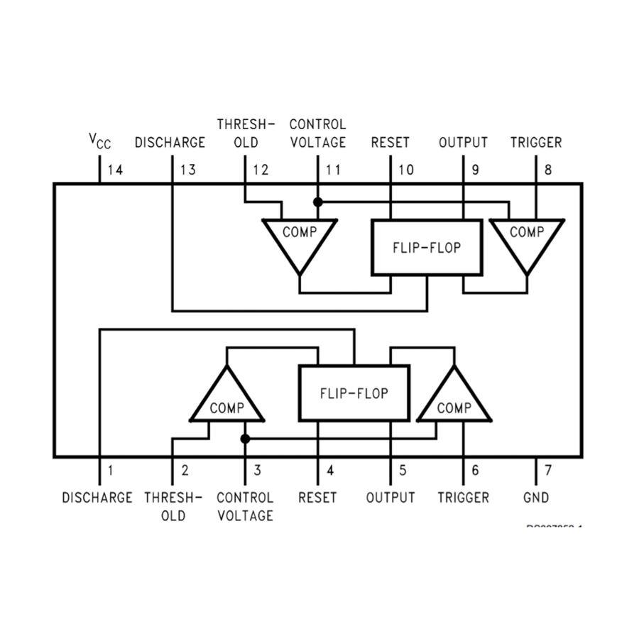 LM556 SOIC-14 SMD Zamanlayıcı - Osilatör - Pulse Jeneratör Entegresi