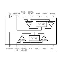 LM556 SOIC-14 SMD Zamanlayıcı - Osilatör - Pulse Jeneratör Entegresi - Thumbnail