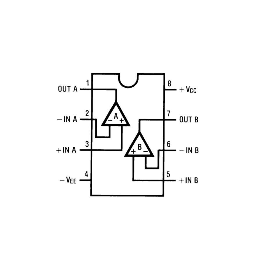 LM833N Amplifikatör Ses Entegresi Dip8