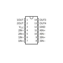 LMT2901N PDIP-14 Komparatör Entegresi - Thumbnail
