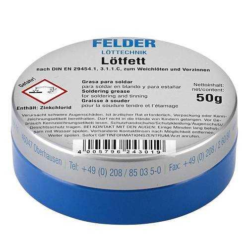 Lehim Pastası 50gram - Lötfett Felder