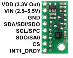 LPS25HB Ortam Basıncı - Rakım / İrtifa Sensörü Kontrol Kartı - Thumbnail