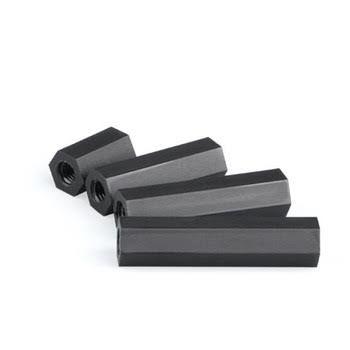 M2.5*15 Plastik Altıgen Siyah Pul - 10 Adet