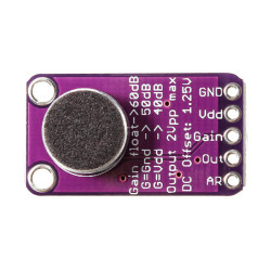 Max9814 Mikrofon Amplifikatör - Yükselteç Modülü - Arduino Uyumlu - Thumbnail