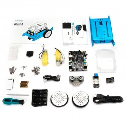 mBot V1.1 - Blue - Bluetooth Versiyonu STEM Eğitim Robotu - Thumbnail