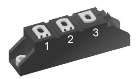 MCC95-12IO1B / THYRISTOR MODULE 116A 1200V IXYS