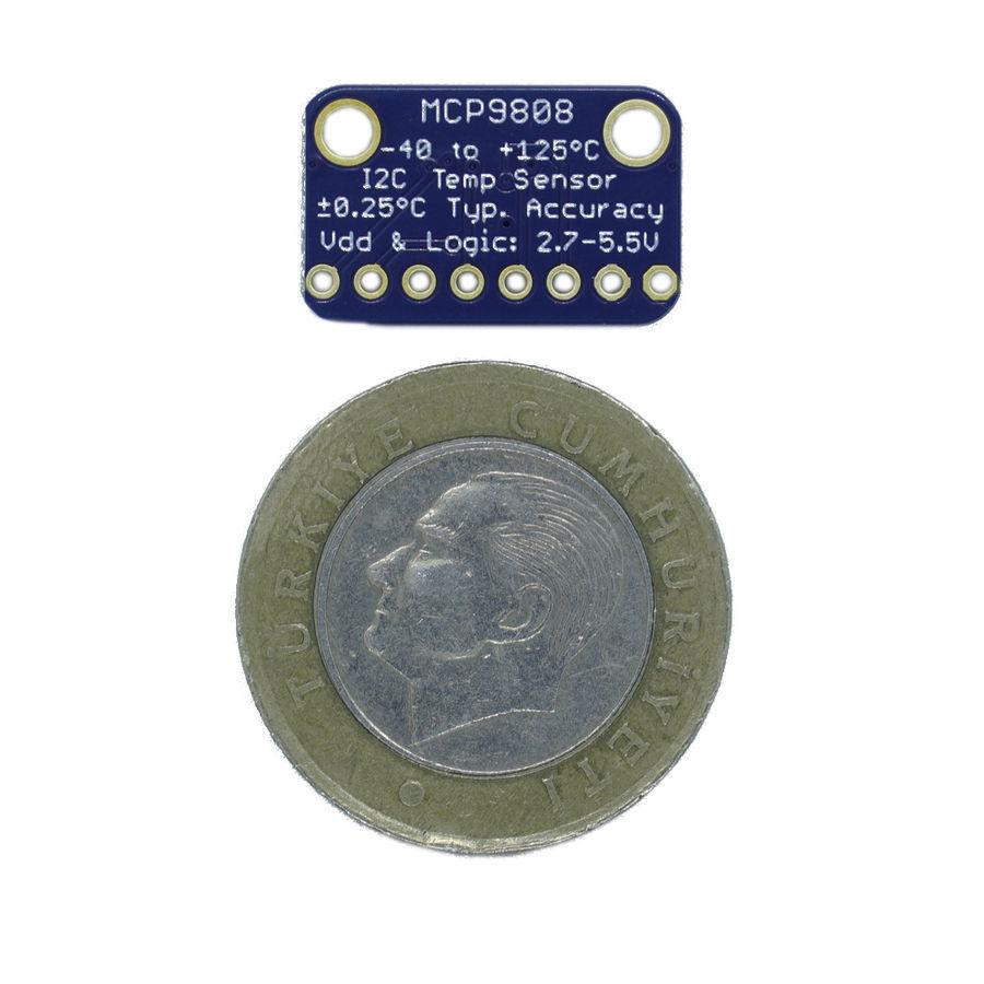 MCP9808 Yüksek Doğruluk I2C Sıcaklık Sensörü Tümleşik Kartı