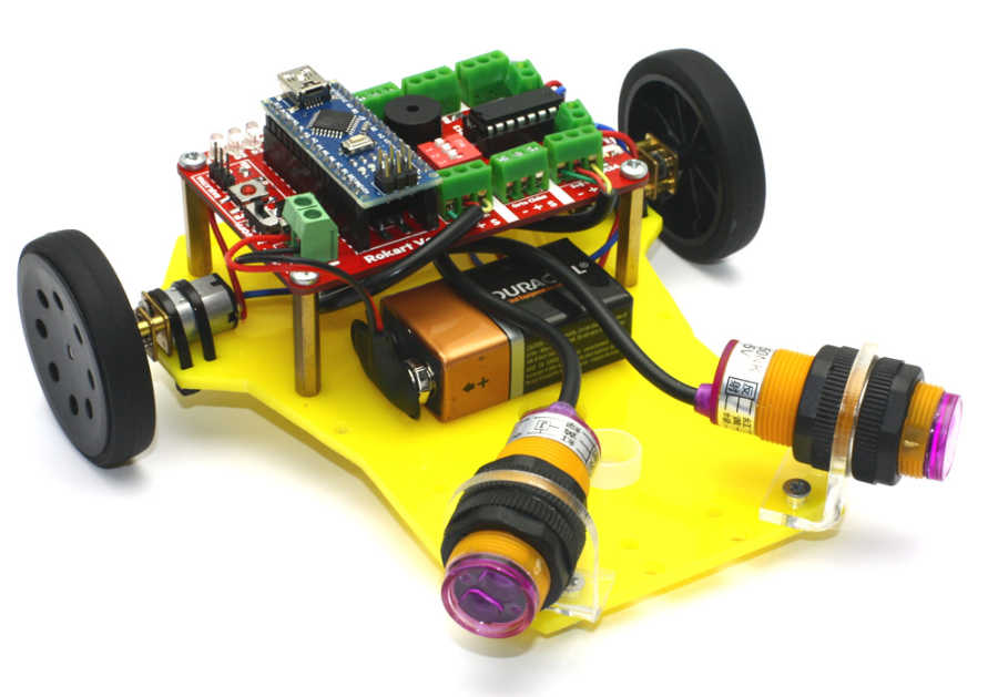 Mini Robot Gövdesi (Siyah)