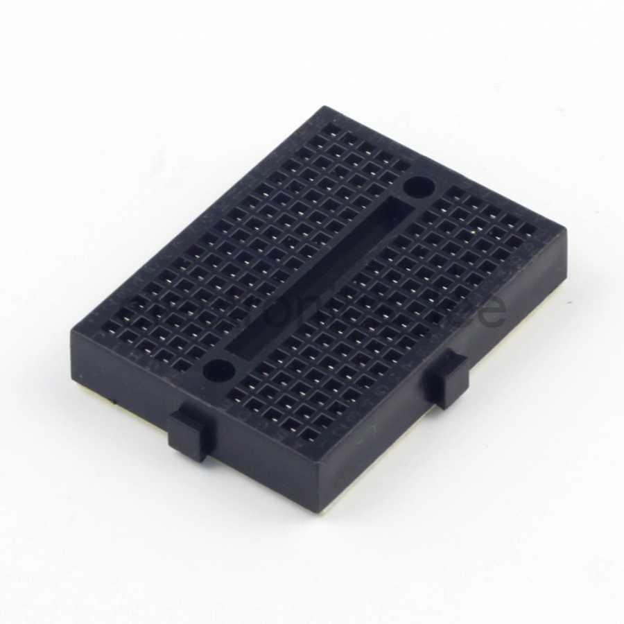 Mini Yapışkanlı Breadboard Siyah