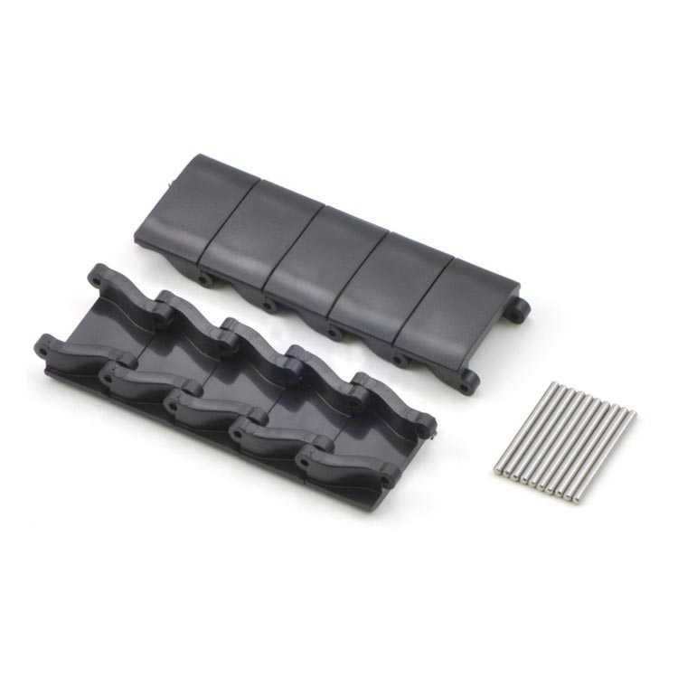 Minyatür Tank Paleti Parçaları ve Pimleri - Siyah (10′lu Paket)