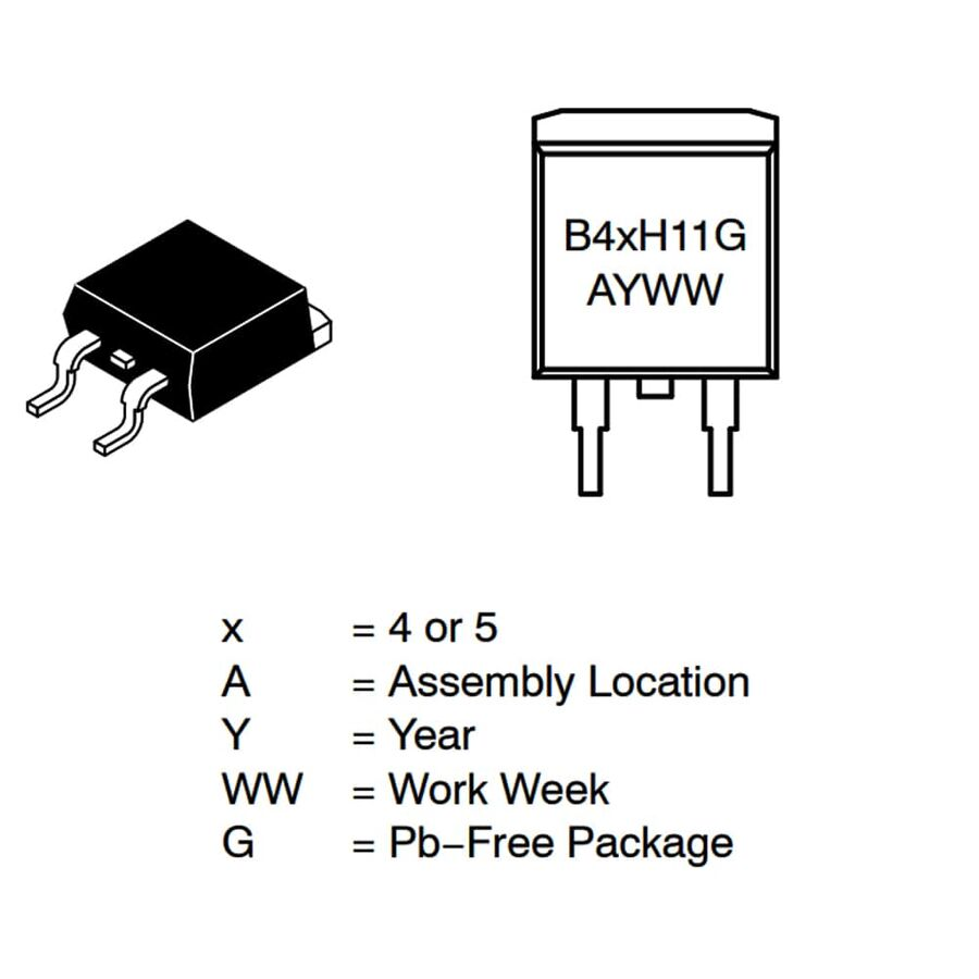 MJB44H11T4G Npn Smd Transistör To263 (D2pak)