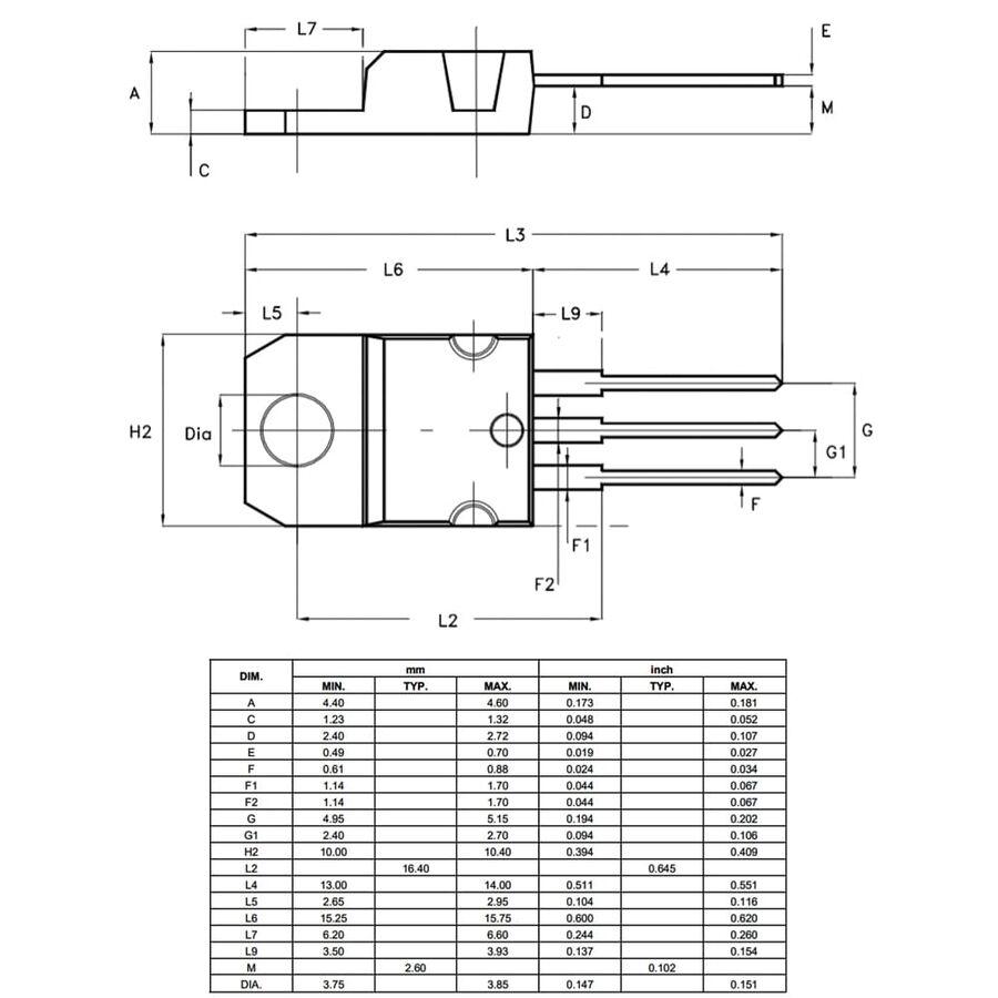 MJE2955T Transistör Bjt Pnp TO-220