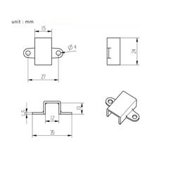 Montaj Braketi N20 Mikro Dişli Motor Tutucu 12m - Thumbnail