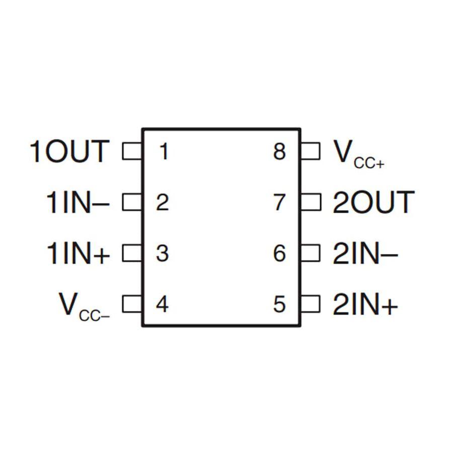 NE5532P OpAmp Entegresi Dip-8