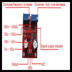 NE555 Kare Dalga Sinyal Jeneratörü - Thumbnail