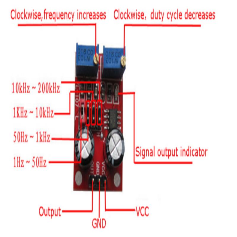 NE555 Kare Dalga Sinyal Jeneratör Modülü