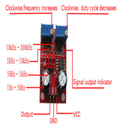 NE555 Kare Dalga Sinyal Jeneratör Modülü - Thumbnail