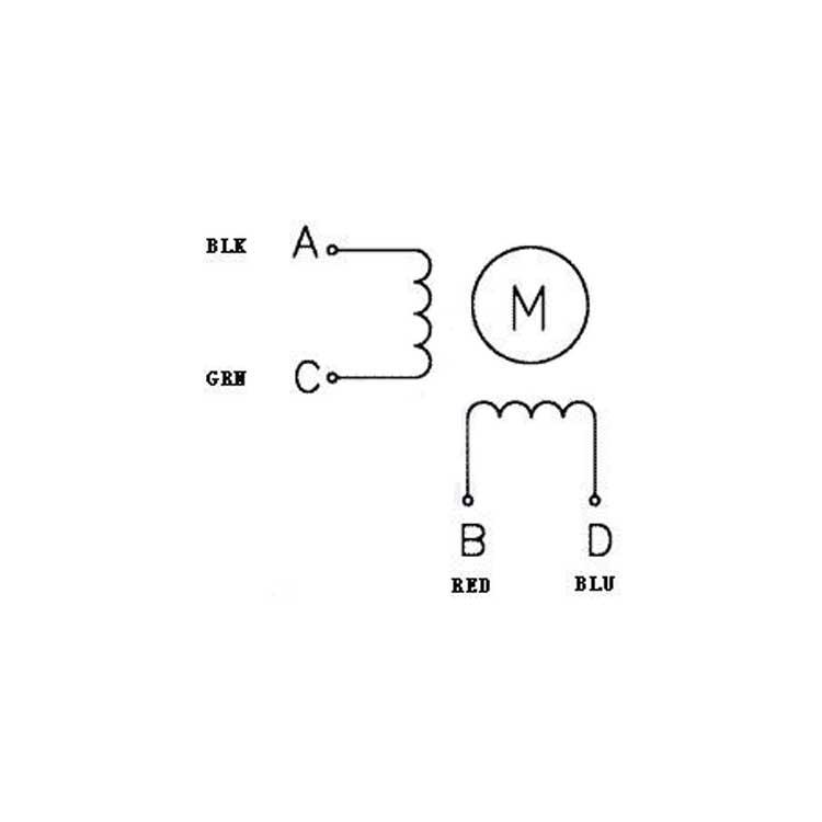 Nema 14 Bipolar, 200 Steps/Rev,35×28mm,10V, 0.5 A/Phase - pololu - #1208