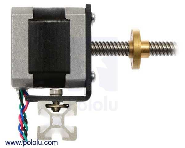 NEMA 17 Step Motor Tutucu - Motor Bağlantı Aparatı - Alüminyum L Dirsek - Pololu