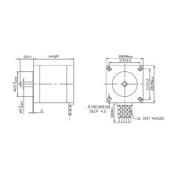 NEMA 11 200 Adım Bipolar Step Motor 0.67A - Thumbnail