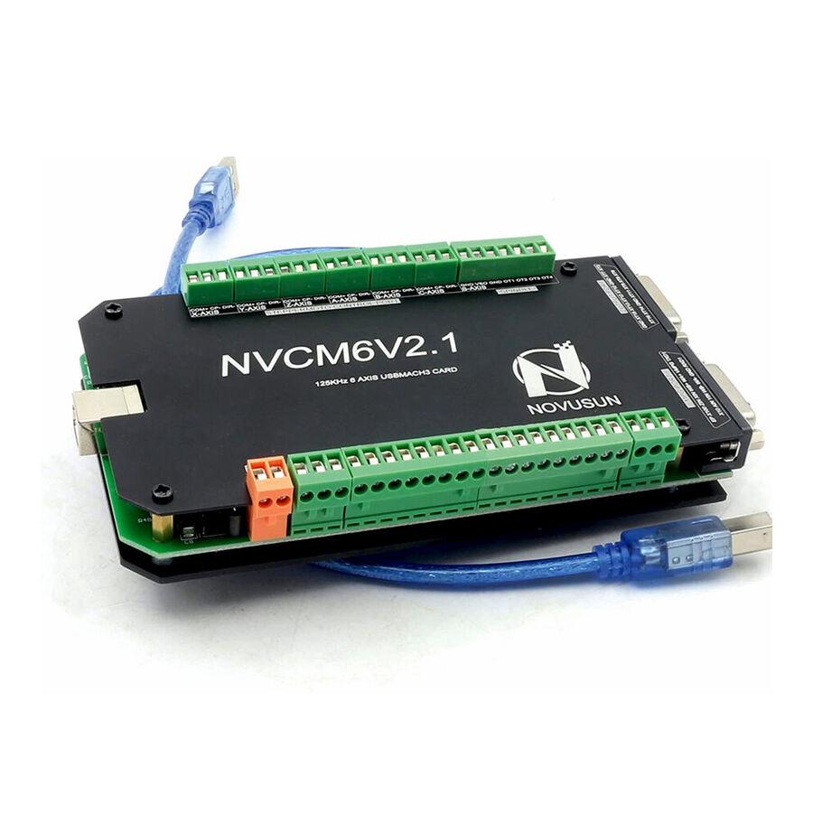 NVCM6V2.1 6 Eksenli CNC Hareket Kontrol Kartı 125KHz