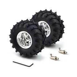 Dagu 120x60mm Off-Road Robot Tekerlekleri (Gümüş 2 Adet) - Thumbnail