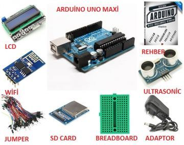 Orjinal Arduino Uno Maxi Başlangıç Seti
