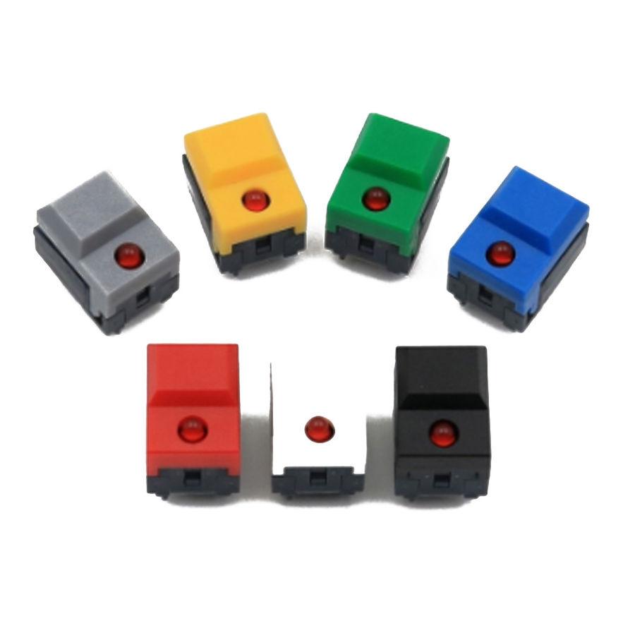 PB86-A1 24V 6 Pin Ledli Push Buton - Sarı
