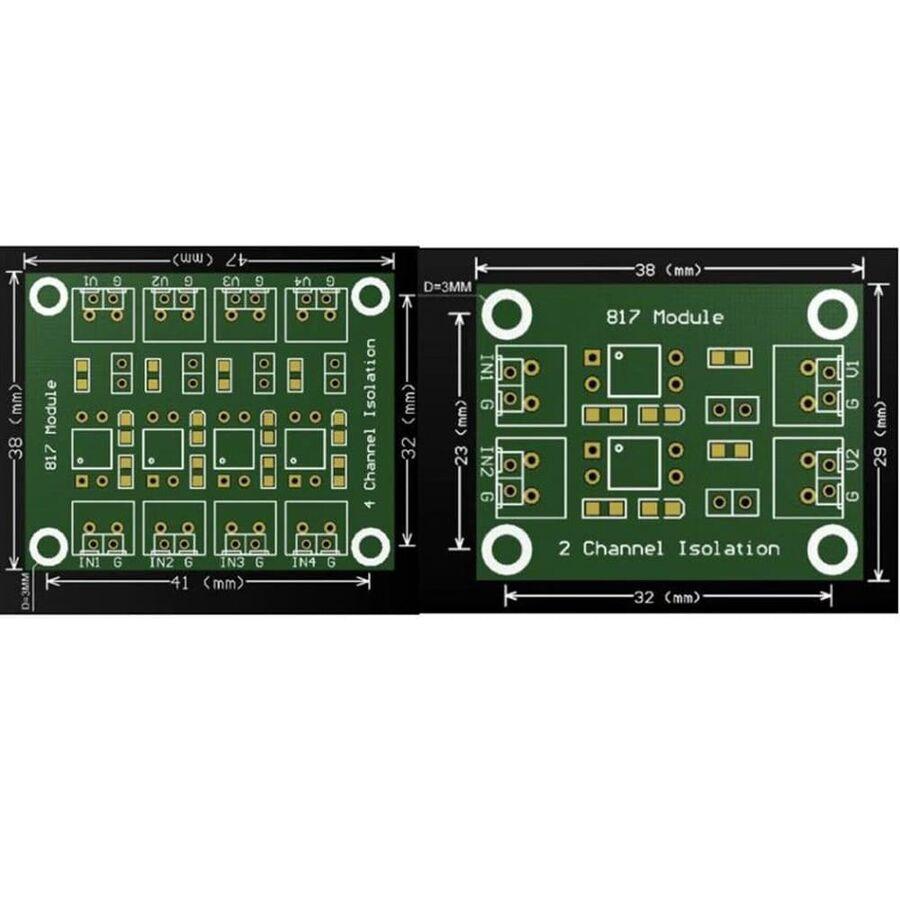 PC817 2 Kanal Optokuplör İzolasyon İçin Modül