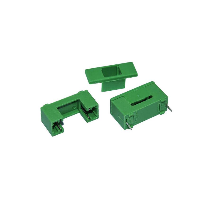 PCB Tip Sigorta Yuvası 20mm - Yeşil ( Kapak Dahil )