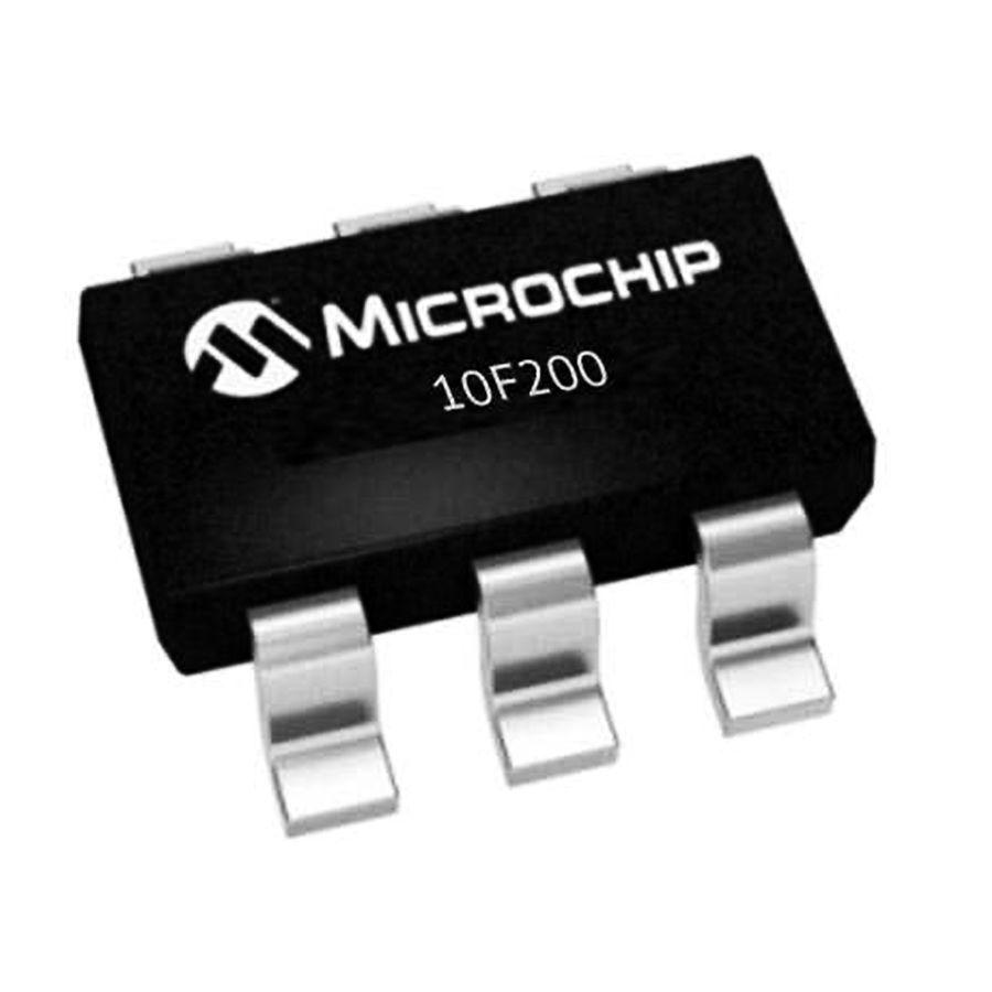 PIC10F200T I/OT SMD SOT-23 8-Bit 4Mhz Mikrodenetleyici
