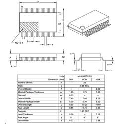 PIC16F1516-I/SS 8-Bit 20Mhz Smd Mikrodenetleyici SSOP28 - Thumbnail