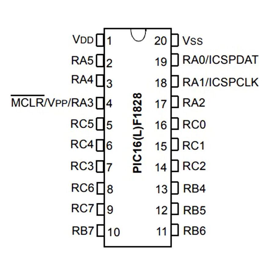PIC16F1828-I/SO 8-Bit 32Mhz SMD Mikrodenetleyici SOIC20