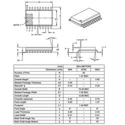 PIC16F1828-I/SO 8-Bit 32Mhz SMD Mikrodenetleyici SOIC20 - Thumbnail