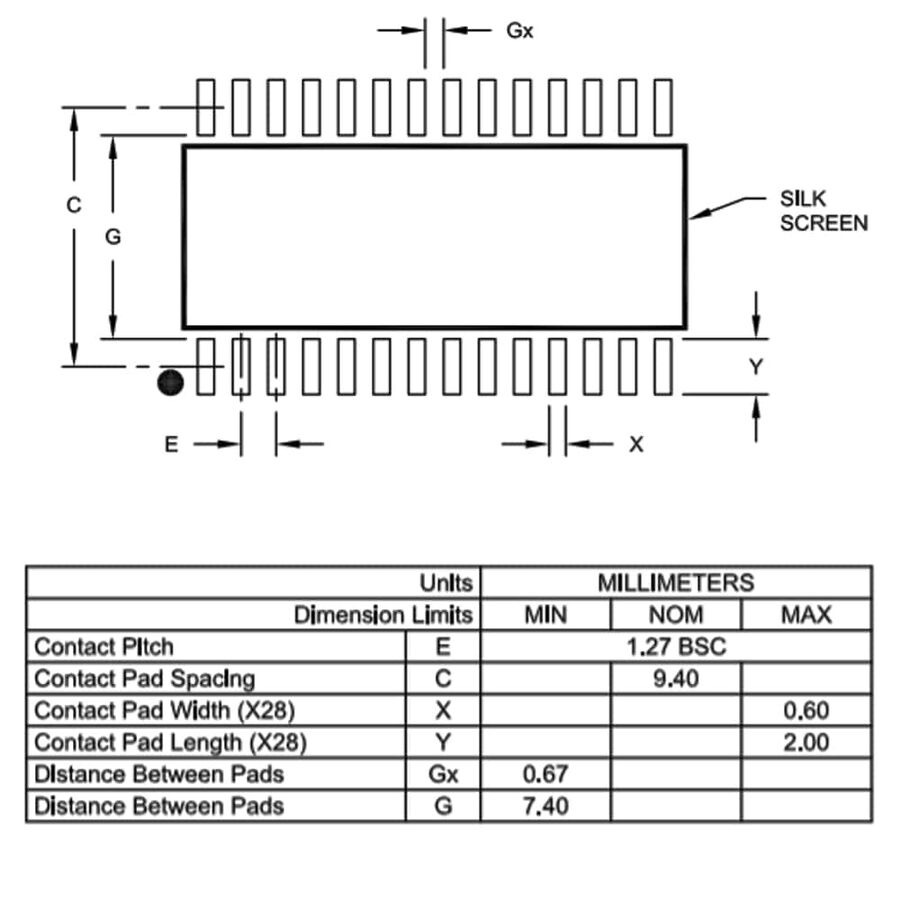 PIC16F1933-I/SO Smd 32MHz 8-Bit Mikrodenetleyici Soic28