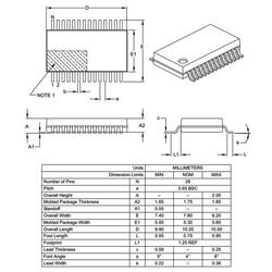 PIC16F1938-I/SS Smd 32MHz 8-Bit Mikrodenetleyici Ssop28 - Thumbnail