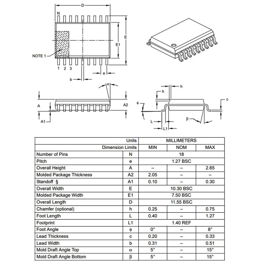 PIC16F54-I/SO SMD SOIC18 20Mhz 8-Bit Mikrodenetleyici