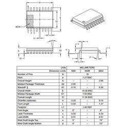 PIC16F54-I/SO SMD SOIC18 20Mhz 8-Bit Mikrodenetleyici - Thumbnail