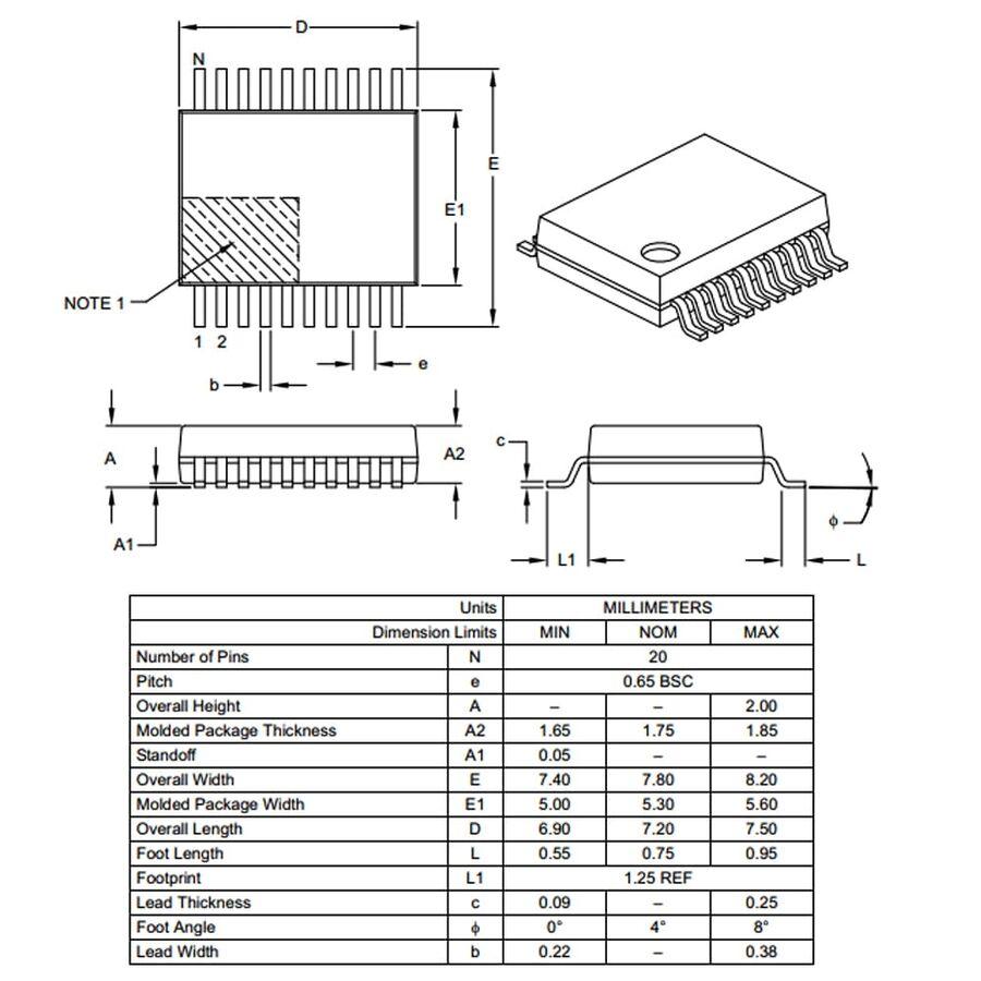 PIC16F628A-I/SS 8-Bit 20MHz Smd Mikrodenetleyici SSOP20