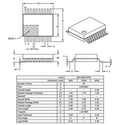 PIC16F628A-I/SS 8-Bit 20MHz Smd Mikrodenetleyici SSOP20 - Thumbnail