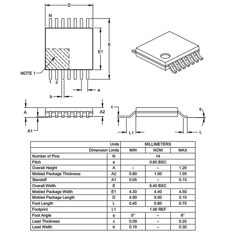 PIC16F688-I/ST SMD TSSOP14 20MHz 8-Bit Mikrodenetleyici