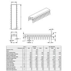 PIC16F73 I / SP DIP28 8-Bit 20 MHz Microcontroller - Thumbnail