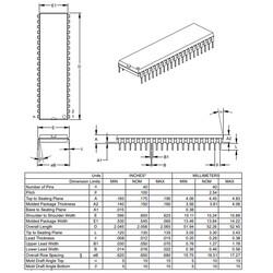 PIC16F877A-I/P DIP40 8-Bit 20MHz Mikrodenetleyici - Thumbnail